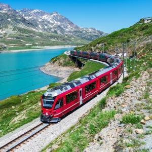 スイスの「レーティッシュ鉄道」オンラインツアー