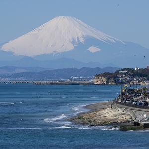 湘南海岸からの富士山