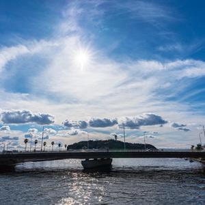 弁天橋から見る光景