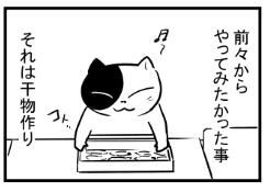 【漫画日誌】初めての干物作り