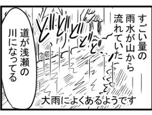 【漫画日誌】自然が多いところの梅雨がすごい