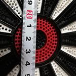 ソフトダーツボード盤面のサイズについて実測検証