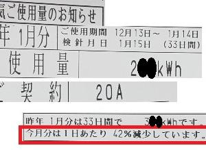 【防寒と節電】電気使用量42%減(昨年比)その原因は?【ミニマリスト】【2019冬】【2020】