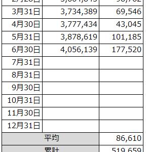 2020/06収支報告