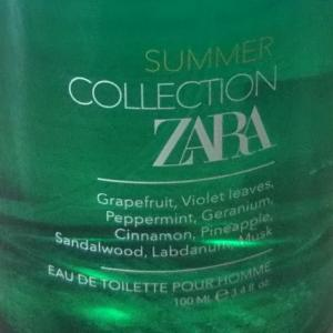 ZARA summer collection perfume