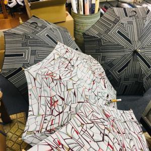 思い出の着物が日傘に