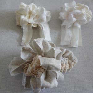 裂き布で作ったお花たち(^^♪
