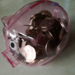 ぶたの貯金箱いくら貯まるかな?2019