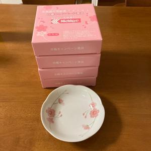 日糧製パン花絵皿キャンペーンとゼスプリのバケツ