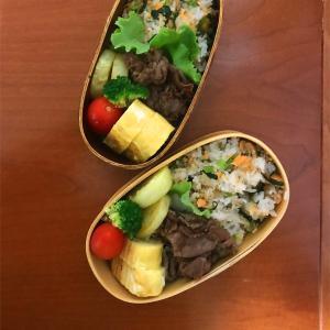 1月29日 鮭と小松菜の混ぜご飯弁当