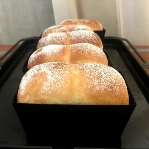 ミニ食パン/ 2月6日 イカの唐揚げ弁当 / 夫、人の話聞いてなくて娘に怒られる