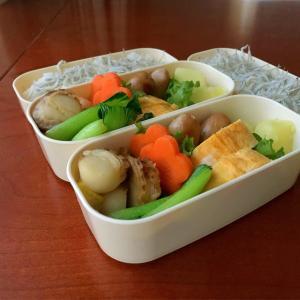 2月10日 ベビーホタテと青梗菜の中華炒め弁当 / レジで娘を人質に