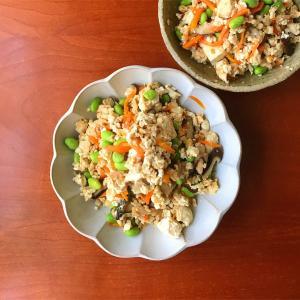 今日のおばんざい*炒り豆腐/ おばんざいという呼び方