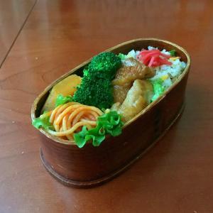 12月23日 小松菜とシャケの混ぜご飯弁当