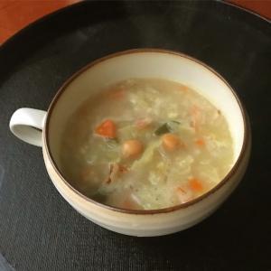 11月12日 ハンバーグ弁当 / キャベツとひよこ豆のスープ