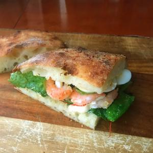 1月24日チョレギサラダのサンドウィッチ