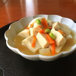 今晩のおかず 高野豆腐のたいたん