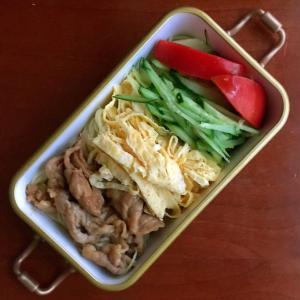 8月23日 冷麺弁当 / 実家へお届けパン 低糖質ふすまのチーズパン
