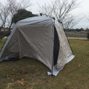 クイックキャンプのスクリーンタープ改造計画2