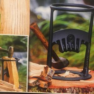 夏休みキャンプの薪の準備だけする