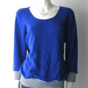 青ニットのTシャツ(リブ追加し直し)