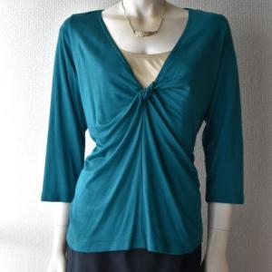 自作パターン・ニットのインナーTシャツ(3XL完成)