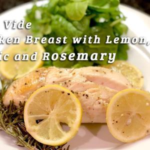 【簡単レシピ】Anovaでつくるジューシーなガーリックチキン・レモン&ローズマリー風味