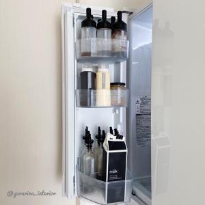 キャンドゥ♪モノトーン牛乳パックカバーと冷蔵庫のドリンク収納