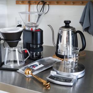 ヒュッゲな時間…専門店のコーヒー豆と愛用のコーヒーグッズ