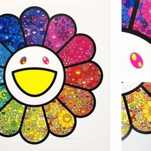 【7月24日発売開始】村上隆 新作エディションサイン入り版画「お花がスパークル!」
