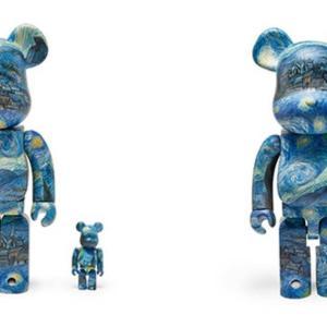 【8月7日発売開始】MoMA Starry Night BE@RBRICK 100%&400% / 1000% モマ スターリー ナイト ベアブリック