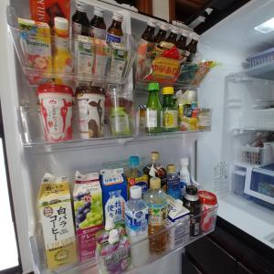 冷蔵庫に映った自分