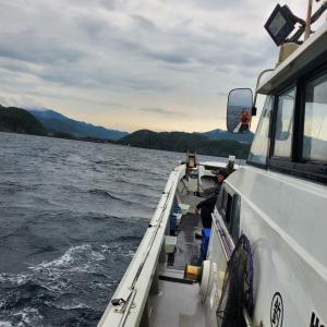 イカ釣り3回目、6月25日白い長靴さん