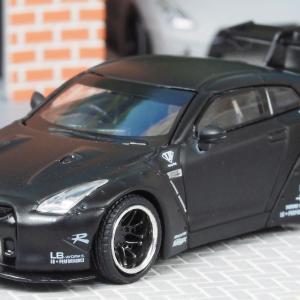 1/64 LB★Works Nissan GT-R R35 Type 1 Rear Wing Ver.1 マットブラック LB限定