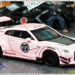 1/64 LB★Works Nissan GT-R R35 Type2 Rear Wing ver.3 ピンクピッグ 【TSM MINI GT】
