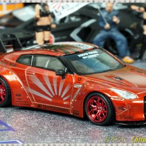 1/64 LB★Works Nissan GT-R R35 Type1 Rear Wing ver.1+2 キャンディレッド 【TSM MINI GT】
