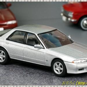 日本車の時代15 ニッサン スカイライン 4ドア スポーツセダン GTS-t Type M (89年式) シルバー 【トミカリミテッドヴィンテージネオ 1/64】