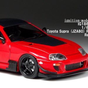 ignition model 1/64 トヨタ スープラ (JZA80) RZ レッド MAX織戸仕様 【IG1862】