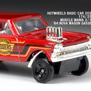 新作 ホットウィール 1964 ノヴァ・ワゴン・ギャッサー 【2020年7月のベーシックカー】