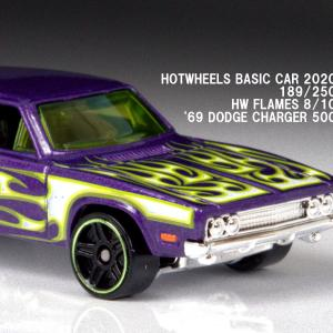 新作 ホットウィール 1969年 ダッジ・チャージャー500 【2020年7月のベーシックカー】