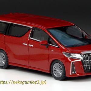 Hobby JAPAN 1/64 Toyota ALPHARD HYBRID (H30W) Aero Type 【Dark Red Mica Metallic】