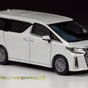 Hobby JAPAN 1/64 Toyota ALPHARD HYBRID (H30W) Aero Type 【White Pearl Crystal Shine】