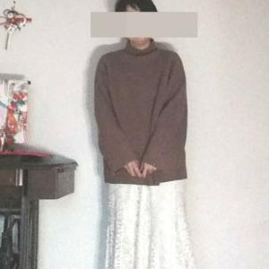 穿きたかったロングレーススカートをセールで購入