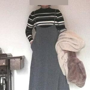 ハイウエストスカートで体型をカバー