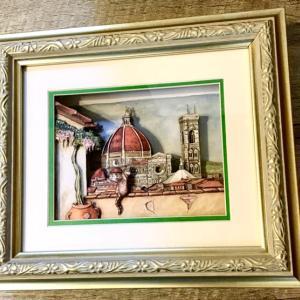 イタリアの風景 シャドーボックス