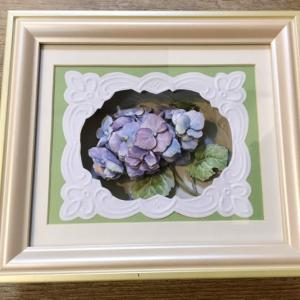 紫陽花 シャドーボックス