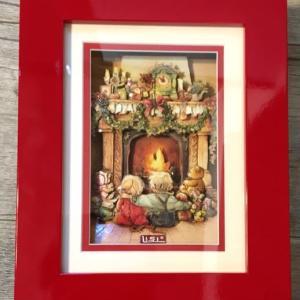 LISI クリスマスカードでシャドーボックス