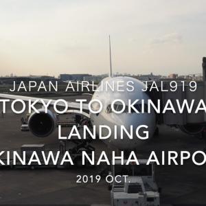 【機内から離着陸映像】日本航空 JAL919 (JA752J) 羽田 – 那覇 那覇空港着陸 2019 Oct