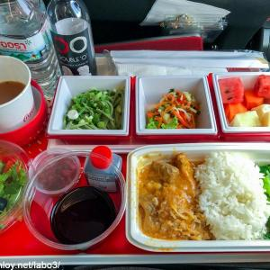【Inflight meal 】JL 日本航空 JL32 バンコク ー 羽田 BKK – HND エコノミークラス機内食 2019 Apr
