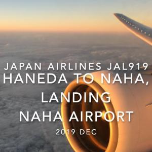 【機内から離着陸映像】日本航空 JAL919 (JA8945) 羽田 – 那覇 那覇空港着陸 2019 Dec.